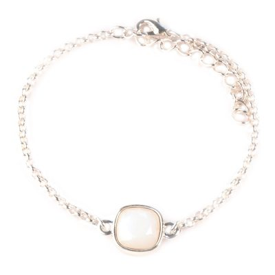 Armband swarovski Elements wit