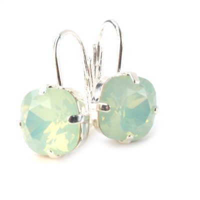 Oorbellen SWAROVSKI®ELEMENTS chrysolite mint