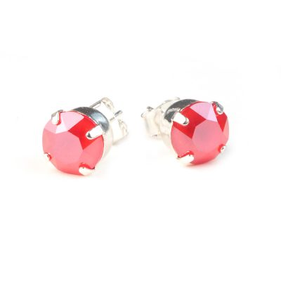 Oorknopjes Swarovski Elements shiney red