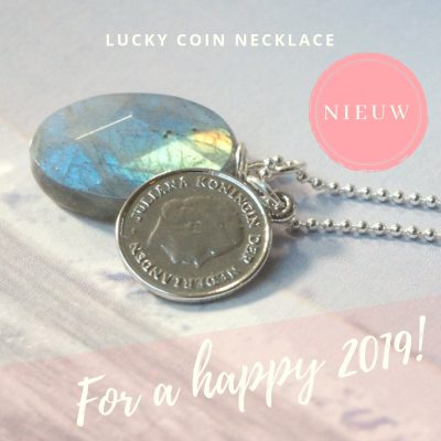 Happy coin necklace