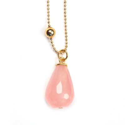 ketting roze jade, jewels with flair